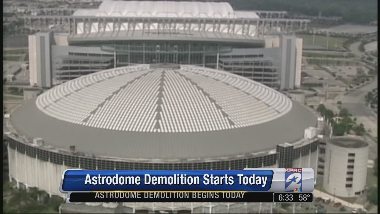 astrodome demolition begins on outer structures