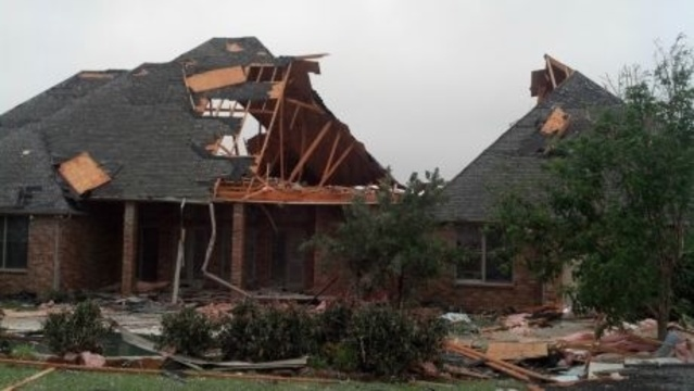 Cleburne Tornado Damage