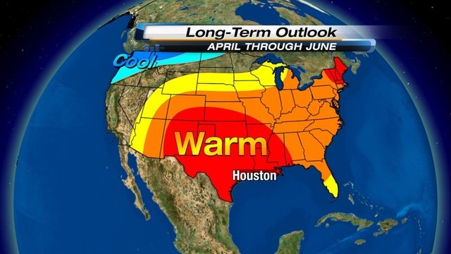 Temperature Outlook 21 March