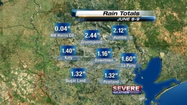 June 8-9 Rain Totals