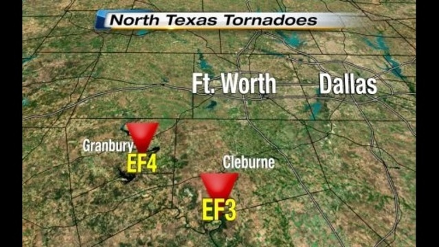 North Texas Tornadoes Close View