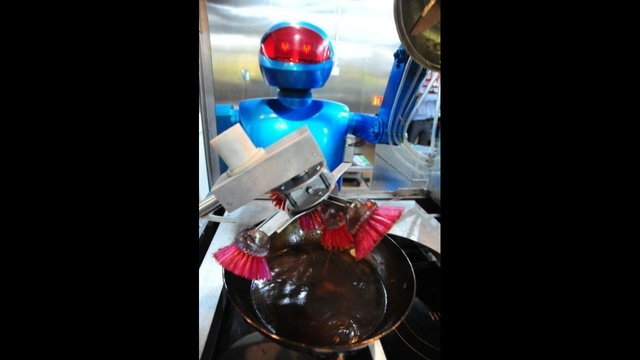 Robot Does Dishes Too!