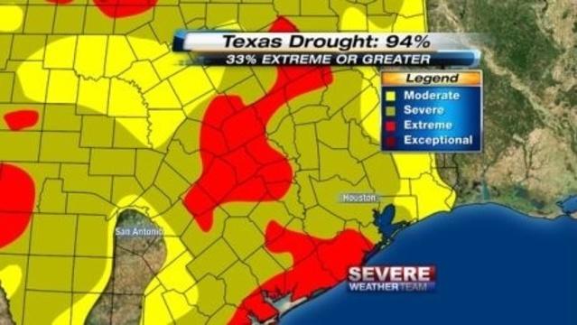 SE Texas Drought 7-18-13