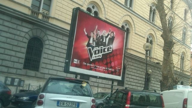 The Voice Billboard in Italy