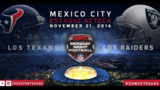 Texans to face Raiders in Mexico City on Nov. 21