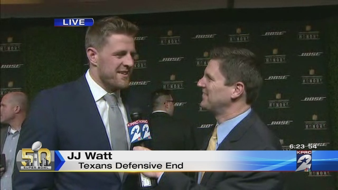 JJ20Watt20Arrives20for20NFL20Honors20Ceremony20160207003312 2093880 ver10 1280 720
