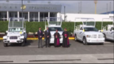 Church officials bless Popemobiles to be used in Mexico trip