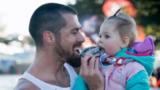 Katy man headed to record books for half-marathon run with baby