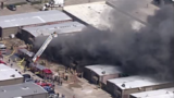 HFD battles 2-alarm warehouse fire in southwest Houston