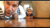 WATCH: Dad beat boxes to teach daughter how to crawl