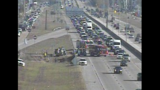 Accident snarls traffic on I-45 northbound at FM 517