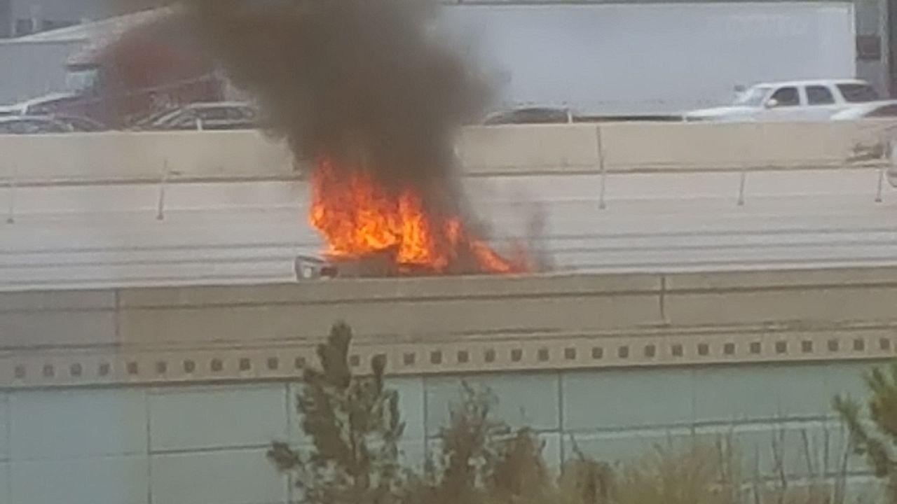 Car fire on i 10 houston 14