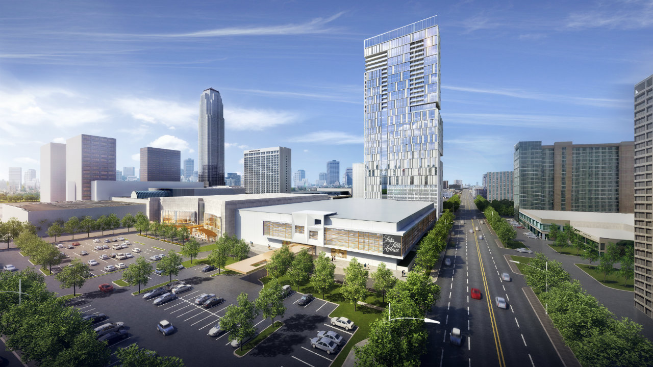 Plans to add luxury hotel residential tower to galleria for Hotel luxury houston