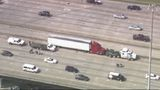 Truck driver shot during altercation, falls off Gulf Freeway overpass and dies