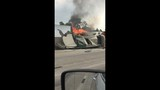 Car fire shuts lanes on East Freeway