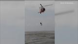 Rescued boater recalls at-sea rescue near Galveston