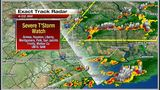 Severe storms bring hail, heavy rain Monday
