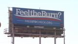 Feel the Burn billboards in Houston use play of politics for message