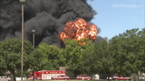 PHOTOS: Massive warehouse fire in Spring Branch