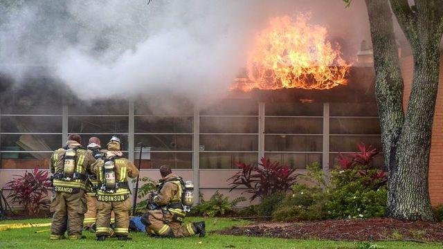 Lake Jackson Church Fire