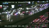 3-vehicle accident slows traffic on I-45 at Shepherd