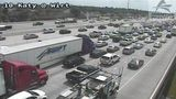 All lanes shutdown on Katy Freeway westbound at Bingle Road due to accident