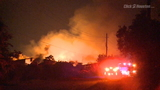 Massive fire destroys south Harris County lumber yard