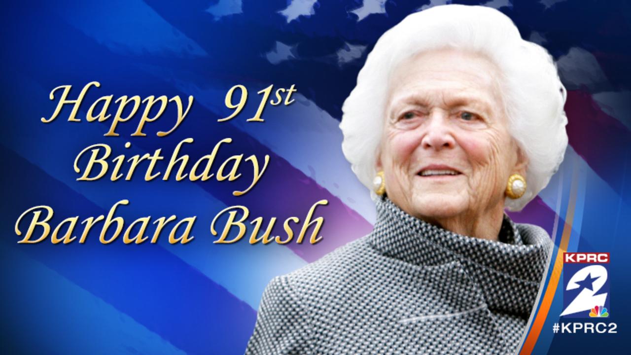 Former First Lady Barbara Bush Turns 91