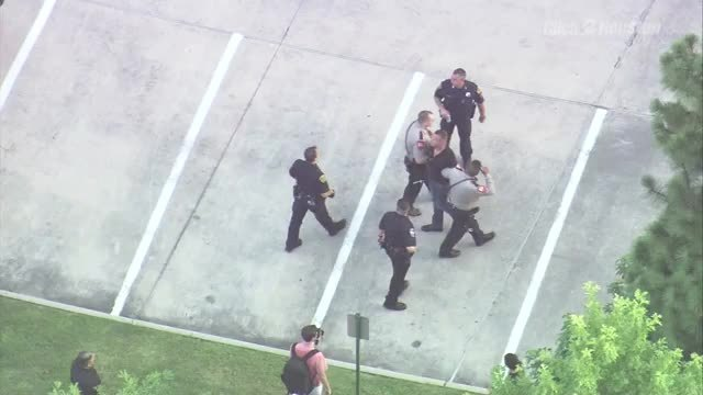 Guy detained at Trump rally in The Woodlands20160618014755.jpg