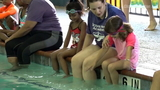 Pool safety lessons given at Texas Swim Academy event
