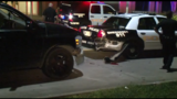 Suspected drunken driver slams into stopped police car in downtown Houston
