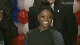 Simone Biles getting used to life back home