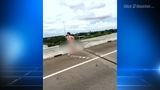 VIDEO: Naked man on busy Houston freeway