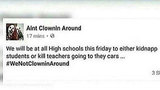 Threat posted on clown Facebook page prompts letters to parents