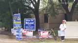Political sign moving becoming a problem as voting begins