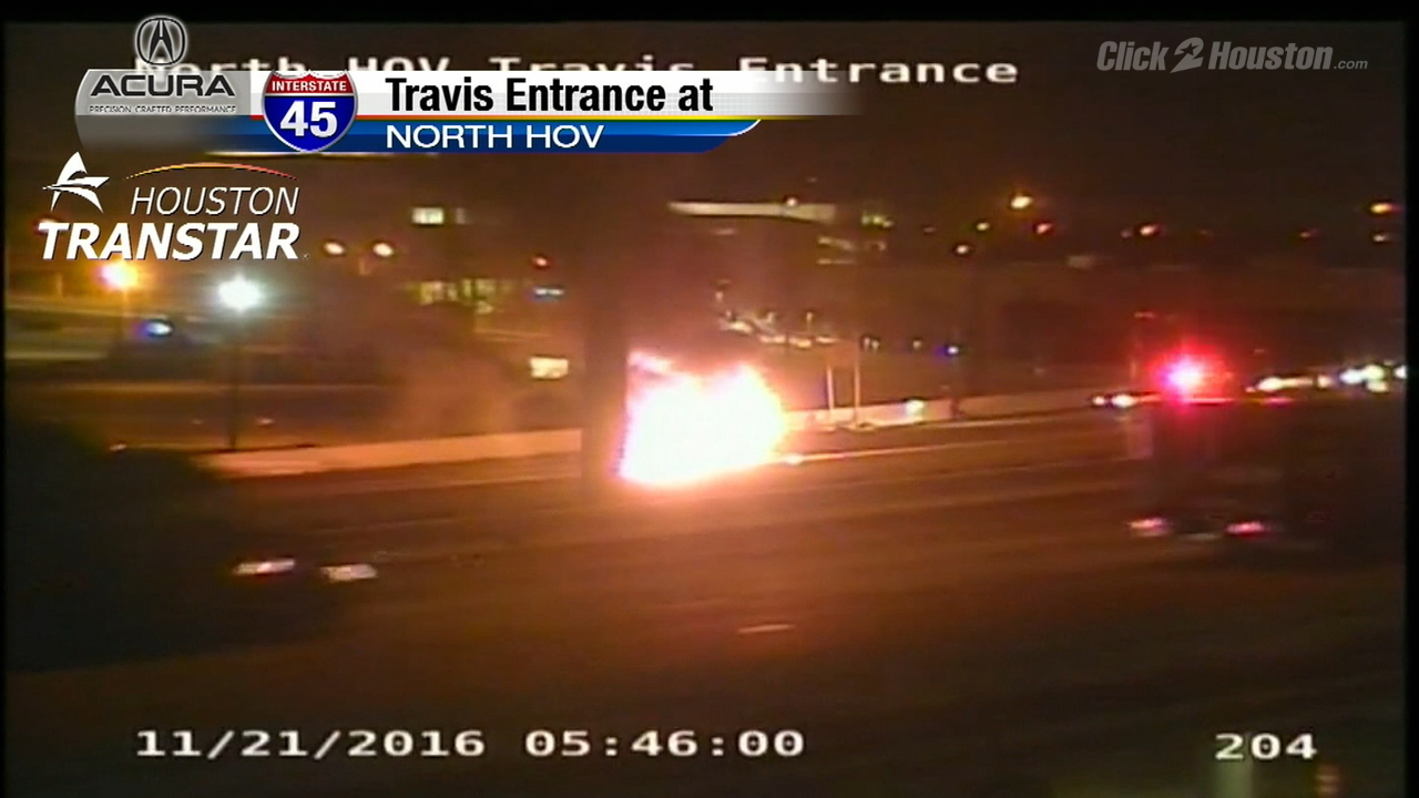 Car fire on i 10 houston