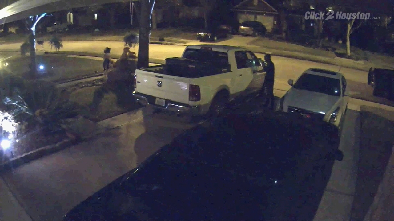 Vehicle burglar caught on surveillance video in fort bend county