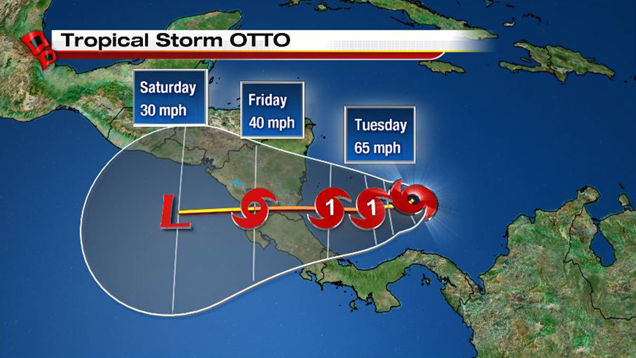 Tropical Storm Otto Forms In Southern Caribbean