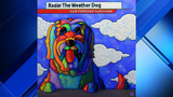 Radar the weather dog painting to be displayed at KPRC2 studios