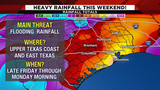 Severe weather, heavy rain possible this weekend
