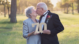70 years later, couple finally snaps wedding photos