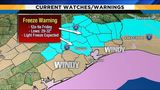 Windy Thursday ushers in Houston area's first freeze of season