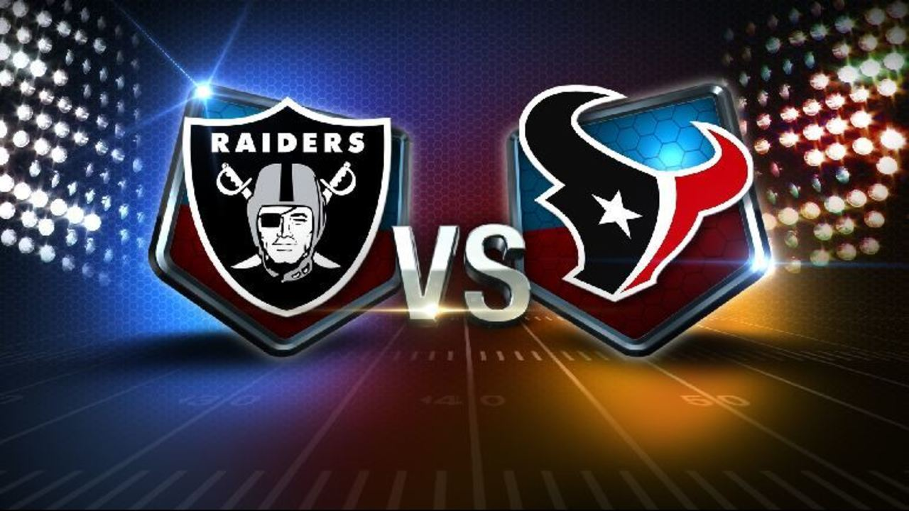 Texans Will Host Oakland Raiders In Their Wild Card