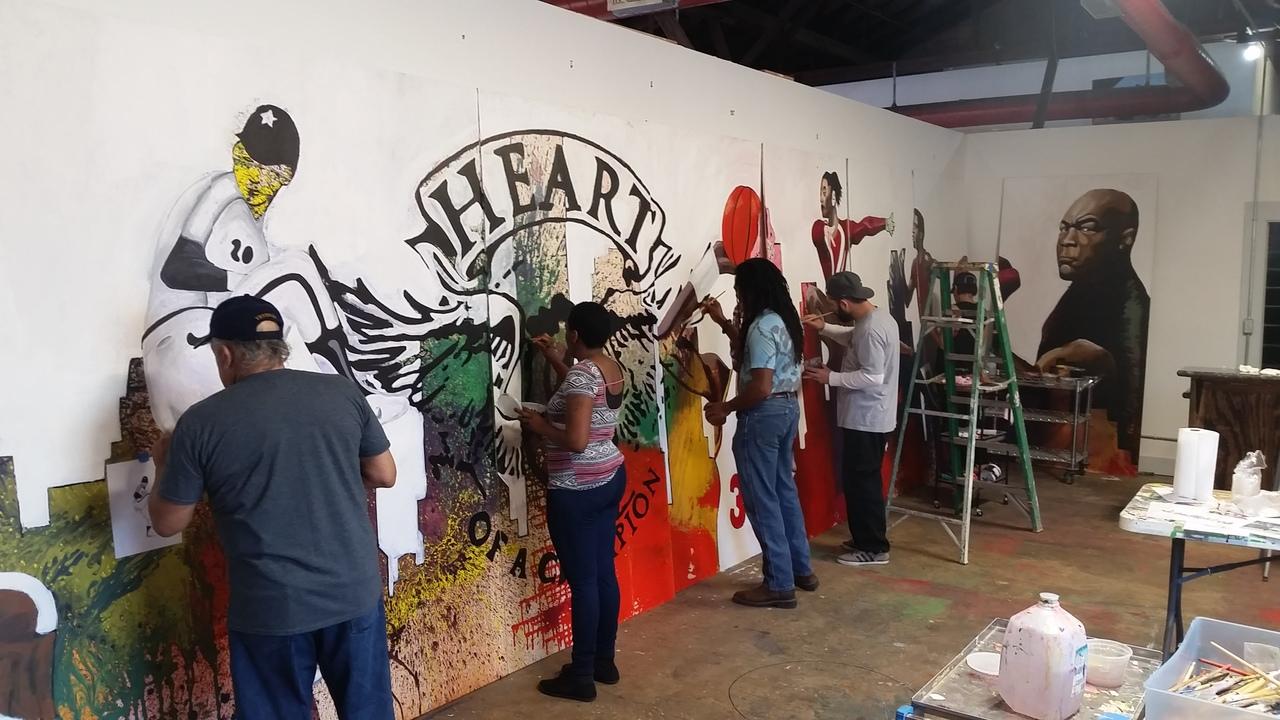 Local Artist Houston Children Create Mural Series For