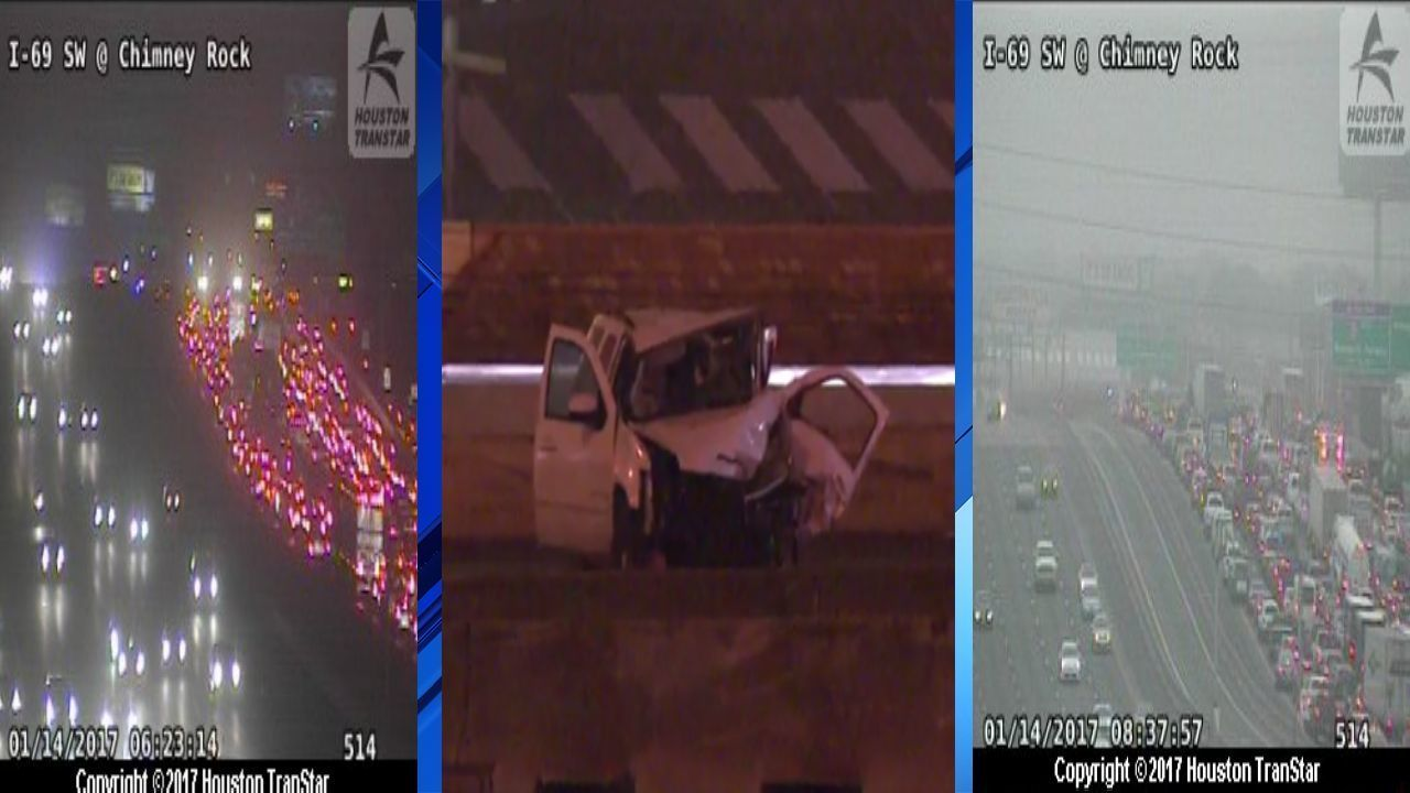 59 SW Freeway at Westpark Tollway re-opens after deadly collision