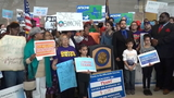 Supprters rally to save Affordable Care Act in Houston