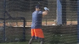 Carlos Beltran works out at Astros Spring Training