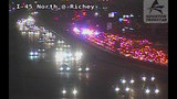 Man dies attempting to run across I-45 North Freeway at Richey, officials say