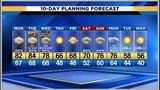 Spotty showers possible Monday, warm afternoon ahead