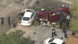 6 injured when chase ends with crash in SE Houston